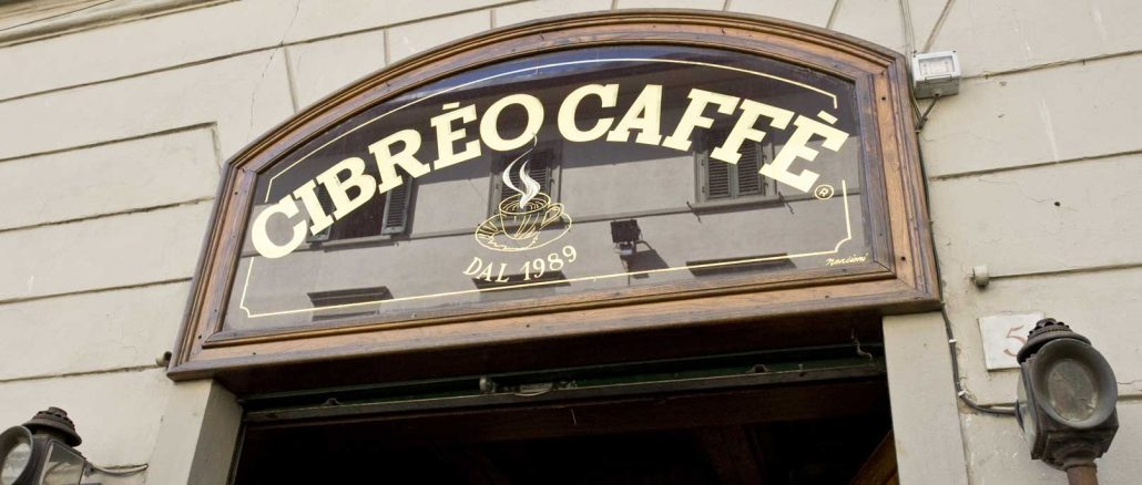 Insegna del Caffè Cibreo di Firenze