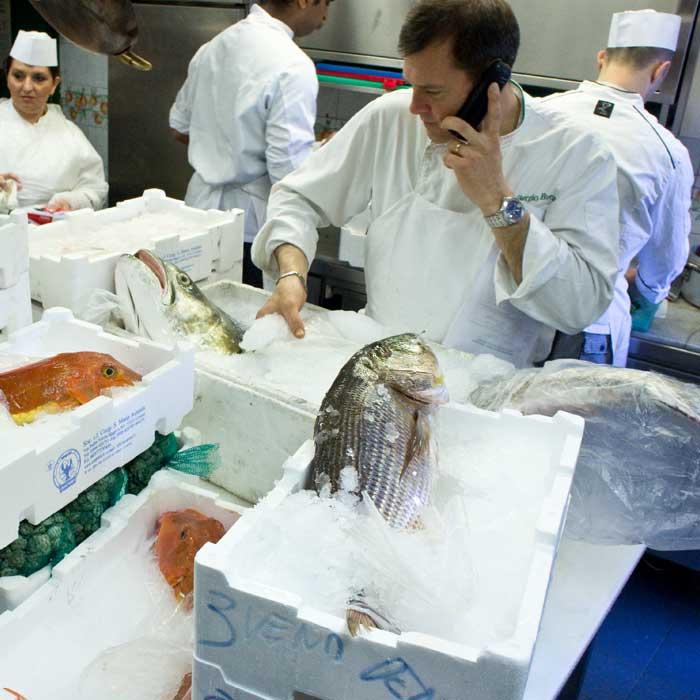 Pesci del Ristorante Cibreo a Firenze