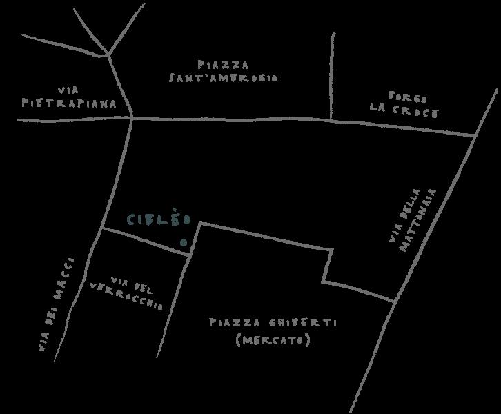 mappa del ristorante Cibleo a firenze
